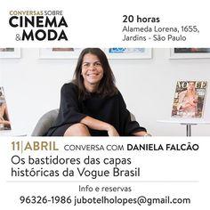 """Quer saber tudo o que acontece por trás das grandes capas de uma revista de moda? Será este o tema da conversa comandada por @danielafalcao1 diretora geral da EGCN nesta terça-feira (11.04) na @amicreperie em São Paulo. O papo descontraído é um dos destaques da programação intensa do evento """"Conversas sobre Moda e Cinema"""" que acontece por lá neste mês de abril - para reservar o seu lugar basta mandar um e-mail para jubotelholopes@gmail.com. Confira mais detalhes nas imagens acima e…"""