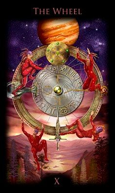 Legacy of the Divine Tarot / Gateway to the Divine Tarot by Ciro Marchetti - The Wheel