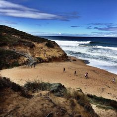 Another one from the Surf Coast Trek today - where Trekkers walked almost the full Surf Coast walk (40kms) and raised well over $230000!!! Fab effort from all involved - and an amazing event team who did such a great job in the first year of the trek  by ihearthiking_au http://ift.tt/1N3tJAU