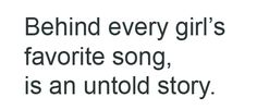 So true! Every one of my favorite country songs has some story behind it.
