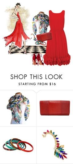 """""""Be Stunning"""" by shoppe23online on Polyvore featuring Aquazzura, women's clothing, women, female, woman, misses, juniors, reddress and Shoppe23"""