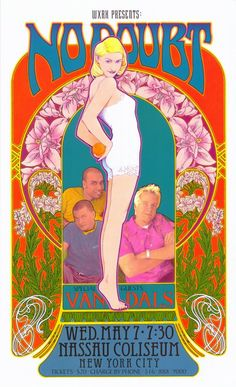 No Doubt Concert Poster New York 1997 / Bob Masse Rock Posters, Band Posters, Music Posters, Wall Art Prints, Poster Prints, Canvas Prints, Poster Wall, Gwen Stefani No Doubt, Vintage Concert Posters
