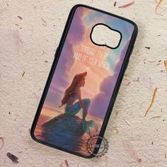 Quote Someday Ariel The Little Mermaid - Samsung Galaxy S7 S6 S5 Note 7 Cases & Covers