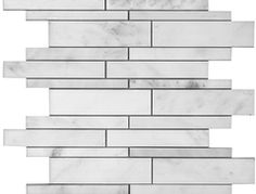 Marble Linear Mosaics - Oriental White (Polished)