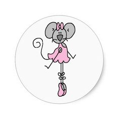 Mouse Ballerina Two Sticker