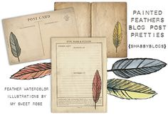 Feather Art Blog Post Pretties