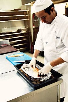 Chef Toerie preparing the trout for smoking! Smoked Trout, Smoking, Kitchens, Tobacco Smoking, Smoke, Vaping, Cigar