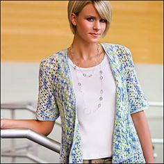 Sally's Best Friend Cardigan by Jenny King and published in Crochet! Magazine May 2010 and now a FREE Ravelry download!