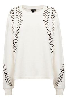 Beaded Textured Sweat - Sweatshirts & Hoodies - Jersey Tops - Apparel - Topshop USA