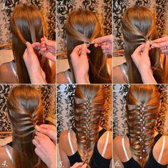 ARTE CON QUIANE - Paps, Moldes, EVA, fieltro, cosido Fofuchas 3D: Tutorial trenza diferente cabello