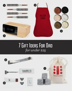 {7 Gift Ideas for Dad Under $25}  #FathersDayGifts