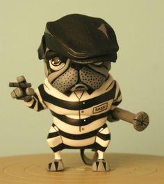 David Cortes' Pugzee - Designer toy with attitude