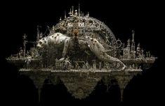 ベルセルクの世界から現れたかのような彫刻が映像に