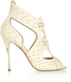 Nicholas Kirkwood Studded cutout leather sandals on shopstyle.com