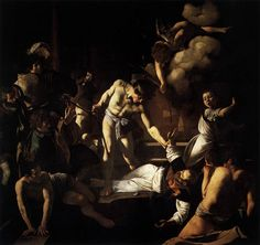 Caravaggio, The Martyrdom of St Matthew 1599-1600 Oil on canvas, 323 x 343 cm Contarelli Chapel, San Luigi dei Francesi, Rome