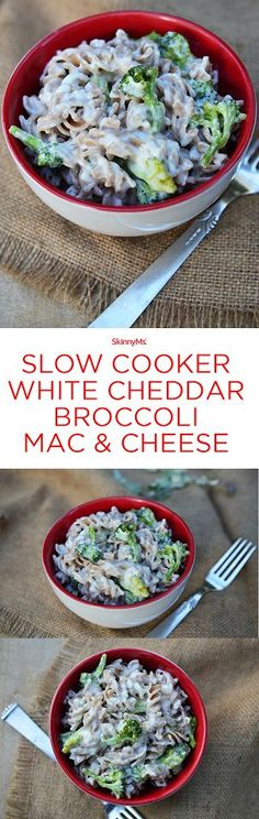 ...because you don't have to feel guilty for eating mac and cheese! - Slow Cooker White Cheddar Broccoli Mac & Cheese