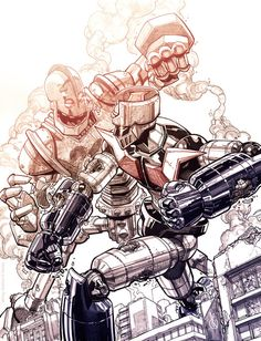 Mazinger Z vs. Iron Giant Created by Carlos D'Anda