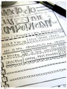 Free Focus on the Important Stuff...List Printable from Homegrown Hospitality