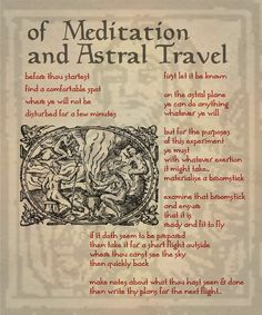 Meditation and Astral Travel ~ Not recommended for the faint-hearted, nor for those who don't know themselves well, aforehand.