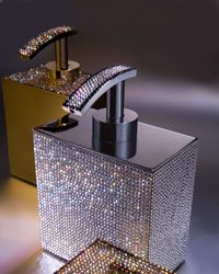 Sparkly bathroom accessories.