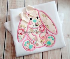 Floppy Bunny Machine Embroidery Design by HappytownApplique