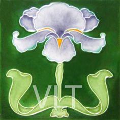 Art Nouveau Reproduction Tile #37, from Villa Lagoon Tile
