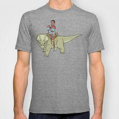 A Boy and his Dinosaur T-shirt by Ulises Farinas - $22.00