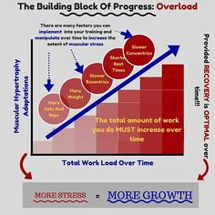 The core of any training program should be overload. If there is no overloading element (means of increasing the work load over time) in your program, you will not elicit more muscular hypertrophy over time. ⬇⬇⬇ ➖➖ Many people fall into the trap of doing the same amount of work over time and as a result, never make further progress. ⬇⬇⬇ ➖➖ There are many ways of increasing the stress on your musculature over time. The important thing is that whatever you choose, the work has to increase. It…