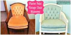 Plaster Painted Vintage Chair Makeover