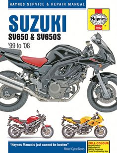 Haynes M3912 Repair Manual for 1999-08 Suzuki SV650 / SV650S / SV650SA / SV650A