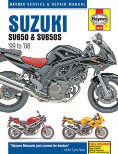 Haynes M3912 Repair Manual for 1999-08 Suzuki SV650 / SV650S / SV650SA / SV650A