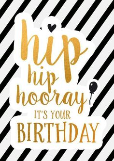 Birth Day QUOTATION – Image : Quotes about Birthday – Description Chique feliciatiekaart met gouden letters, verkrijgbaar bij voor € Sharing is Caring – Hey can you Share this Quote ! Birthday Posts, Happy Birthday Messages, Happy Birthday Images, Happy Birthday Greetings, Birthday Love, Birthday Pictures, Humor Birthday, Birthday Text, Birthday Quotes For Him