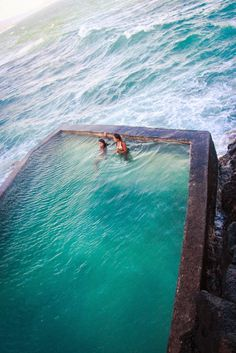 Amazing pool at the edge of the ocean! #travel #beach