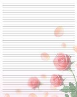 Printable Writing Paper - for when I need to write a note or letter and I'm out of note cards