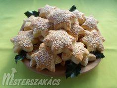 Túrós-szezámmagos csillagok Cauliflower, Stuffed Mushrooms, Chicken, Vegetables, Food, Cakes, Stuff Mushrooms, Cake Makers, Cauliflowers
