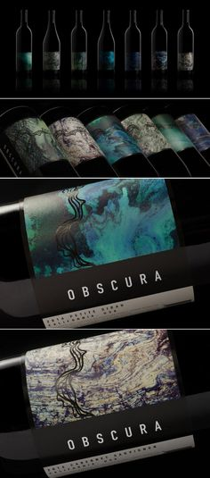 Choose The Wine That Best Fits Your Dark Side With Obscura Wines — The Dieline | Packaging & Branding Design & Innovation News