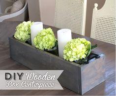DIY Wooden Box Cente