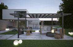 décoration de jardin avec pergola moderne