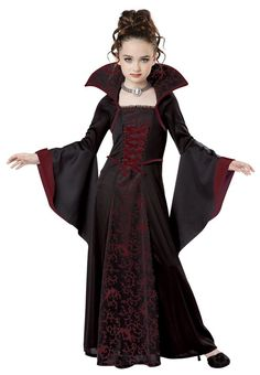 This Royal #Vampire kids #costume comes with dress with attached Colar, choker with cameo. Shoes are not included. | eBay! #halloweencostume