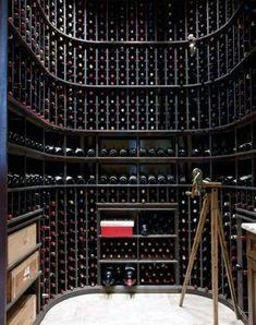 Top 80 Best Wine Cellar Ideas - Vino Room Designs Bar Interior Design, Home Design, Design Ideas, Home Wine Cellars, Wine Cellar Design, Wine Bar Design, Wine Display, In Vino Veritas, Italian Wine