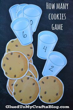 How Many Cookies Counting Game and other counting games. Numbers Preschool, Learning Numbers, Kindergarten Math, Preschool Activities, Preschool Behavior, Montessori Math, Fall Preschool, Teaching Math, Teaching Ideas