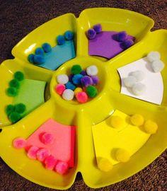 učení barev s pomocí kuliček