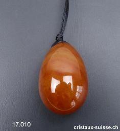 1 Oeuf YONI Cornaline foncée 4,5 x 3 cm, Taille L