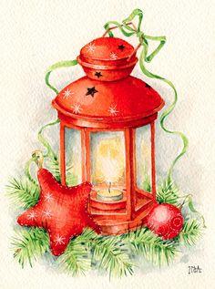 christmas lantern i Inga Izmaylova