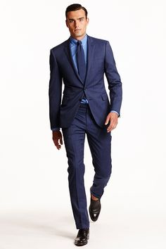 Ralph Lauren Spring-Summer 2015 Men's Collection | Brown Shoes | Light Blue Shirt | Blue Suit