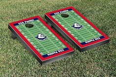 Colorado State Pueblo Thunder Wolves Cornhole Game Set Football Field Version -- You can find more details by visiting the image link.