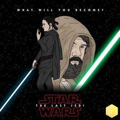 fanart Fanart, Episode Vii, Star Wars Poster, Last Jedi, Star Wars Episodes, Stars, Illustration, Movie Posters, Fictional Characters