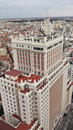 Edificio España desde Torre de Madrid