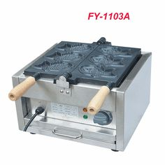 538.52$  Buy now - http://ali5cd.worldwells.pw/go.php?t=32691777331 - 3PC FY-1103A 110V/220V Electric A Plate 3 Fish Taiyaki Maker Machine Snapper Machine with Recipe Fish Waffle Baker 538.52$