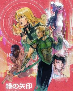 """Green Arrow cover by Peter Nguyen """"I got an email that said """"welcome to team arrow peter."""" It was like a dream sentence. #furiouslyworking #greenarrow  #blackcanary #diggle #dccomics #issue14 #issue15"""